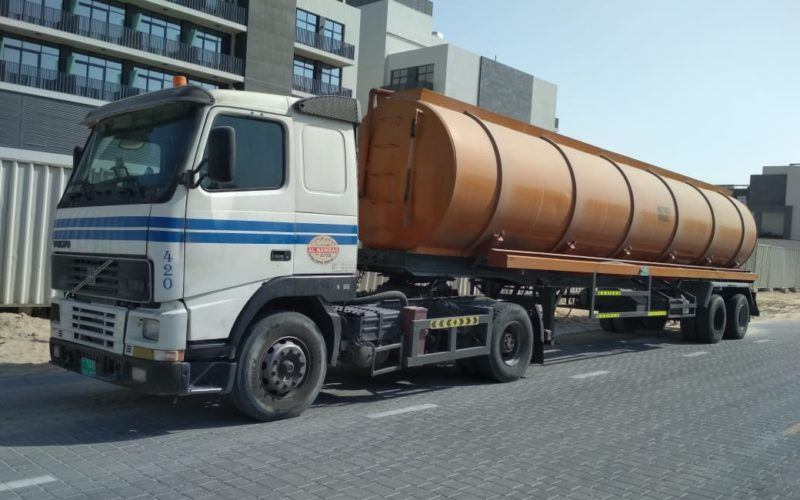 sewage water collection truck